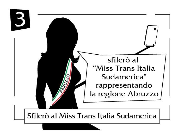 Sfilerò al Miss Trans Italia Sudamerica Abruzzo